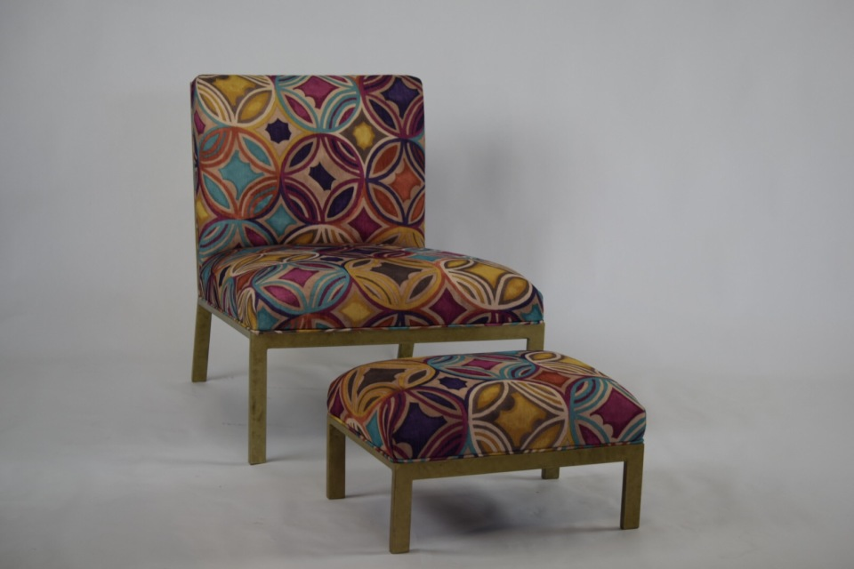 Solana Lounge Chair and Stool - Mar House Furniture - High Point, North Carolina
